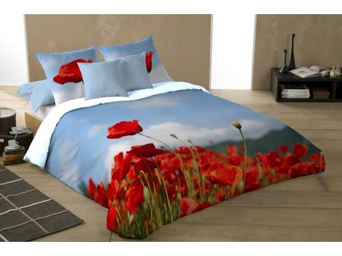 saténové obliečky Poppy kvety vlčí mak
