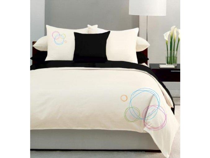 vyšívané obliečky bavlnený satén Bubbles