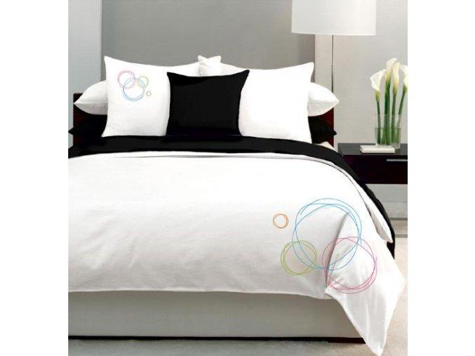 obliečky bavlnený satén s výšivkou Bubbles