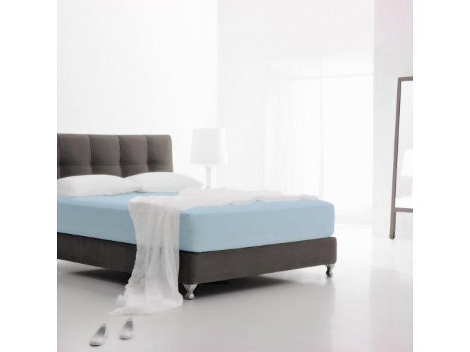 JERSEY STRETCH PASTEL BLUE - napínacie plachty 220/200 cm