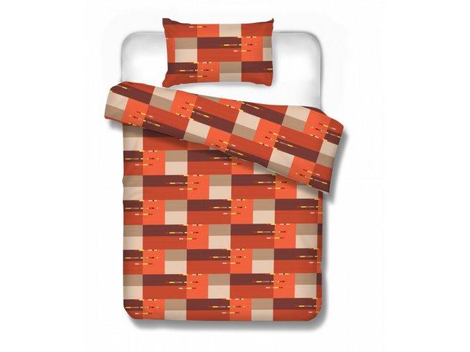 Bavlnené obliečky zo 100% bavlny v tehlovej farbe Turín