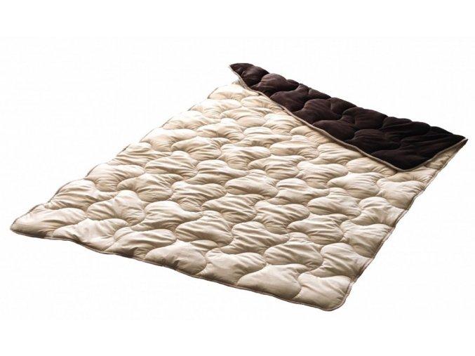 hrejivá plyšová deka v kombinácii s mikrodamaškom