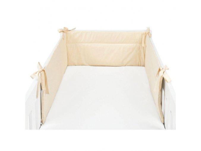 Mantinel béžový - detský chránič 210x32 cm Emozzione