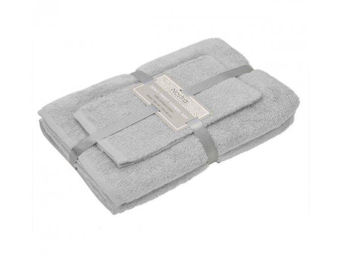 Jednofarebné uteráky a osušky sivé Vienna light grey