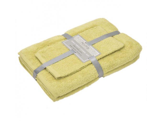 jednofarebné uteráky a osušky žlté Vienna lemon