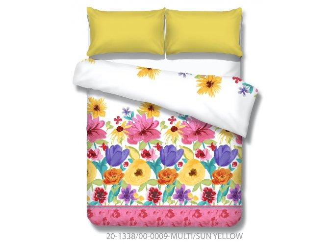bavlnené obliečky s farebnými kvetmi Goya multi