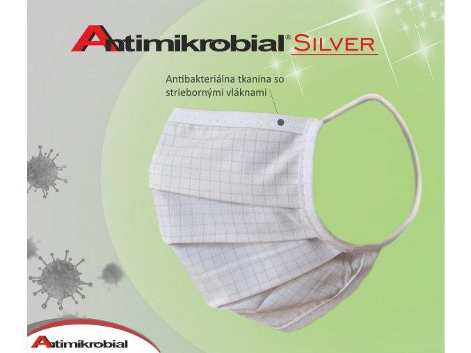 ochranné rúška so striebornými vláknami Silver