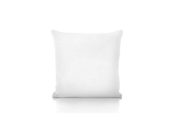 biely vankúš 50x50 cm