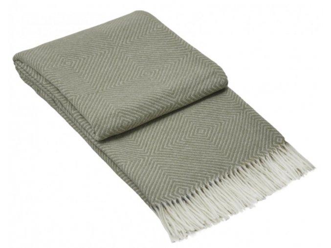 vlnená deka Merino uni grey