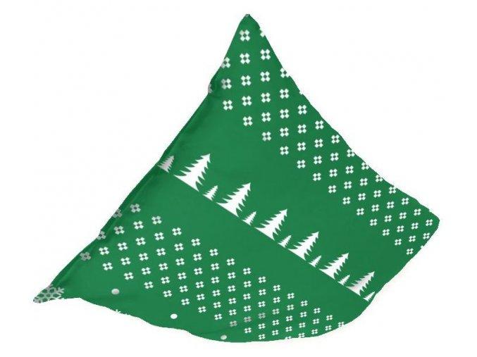 flanelová obliečka na vankúš 45x45 cm Norway, farba zelená