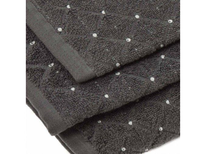 uteráky a osušky Diamond farba tmavosivá detail