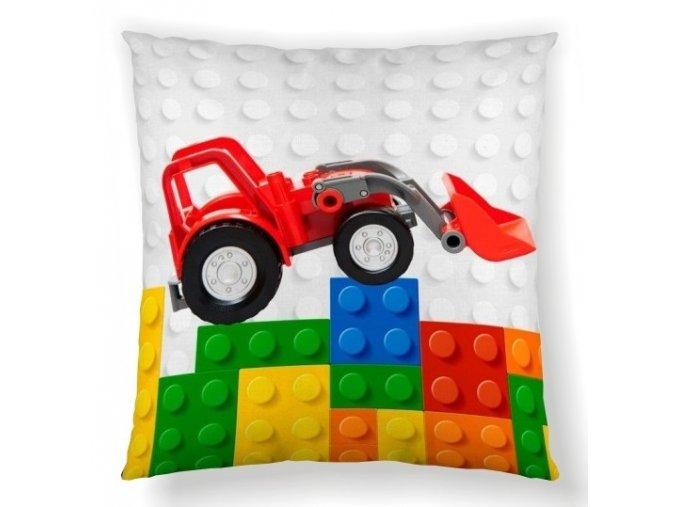 vankúš s motívom lega Cars brics 45x45 cm