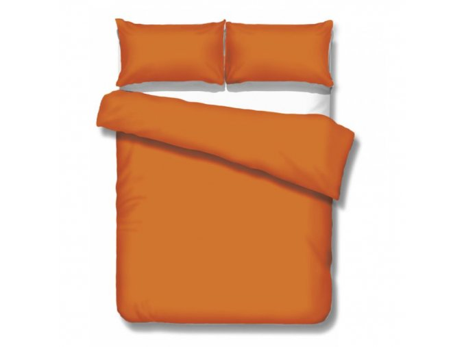 jednofarebné saténové obliečky Satén orange