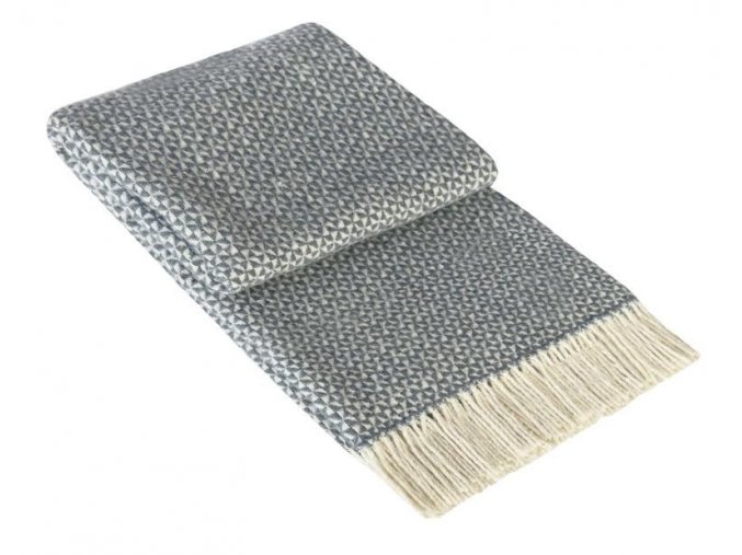PERU GREY - vlnená deka