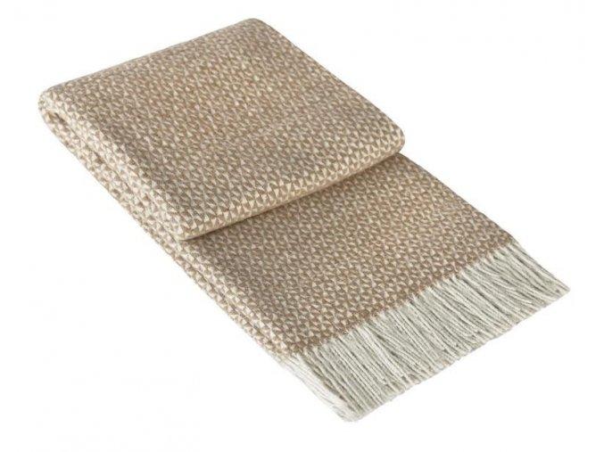 PERU BEIGE - vlnená deka