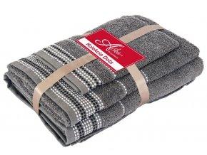 bavlnené froté uteráky Dots grey
