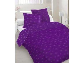 fialové obliečky so sivou potlačou Beam