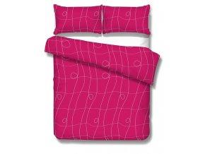 obliečky CURL FUCHSIA - micrometallic 70x90, 140x200 cm Emozzione