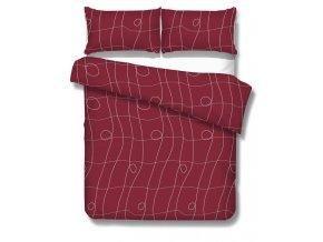 obliečky CURL BEEF RED - micrometallic 70x90, 140x200 cm Emozzione