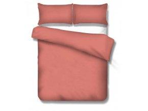 jednofarebné saténové obliečky Satén tea rose