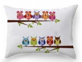 vankúš OWLS - dekoračné vankúše 50 x 30 cm Emozzione