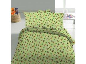 Happy bee green - detské obliečky