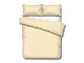 jednofarebné saténové obliečky Satén beige