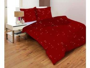STARS BORDO - obliečky mikrovlákno 70x90, 140x200 cm Emozzione
