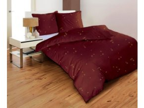 obliečky STARS HNEDÉ - mikrovlákno 70x90, 140x200 cm Emozzione