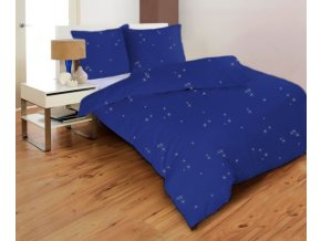 STARS MODRÉ - obliečky mikrovlákno 70x90, 140x200 cm Emozzione