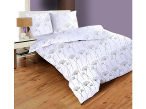 obliečky MODENA WHITE - micrometallic 70x90, 140x200 cm Emozzione
