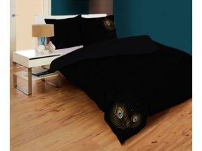 obliečky bavlnený satén v čiernej farbe Saturnian
