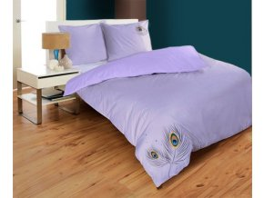 obliečky z bavlneného saténu vo fialovej farbe a výšivkou Saturnian