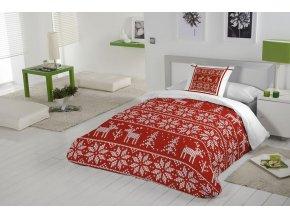 obliečky Nordic red. Farba červená, biela. Škandinávsky dizajn.