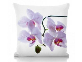 Dekoračný vankúš s kvetom orchidea