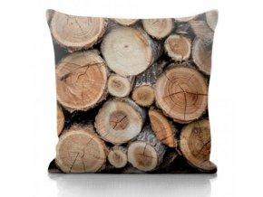 Dekoračný vankúš s drevom Wood