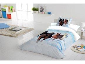 HORSES SNOW - bavlnené obliečky
