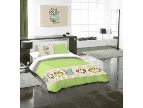 BUBO GREEN - bavlnené obliečky