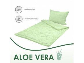 vankúš a paplón Aloe Vera green set