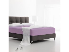 Jersey fialová - napínacia plachta 220 x 200 cm Emozzione