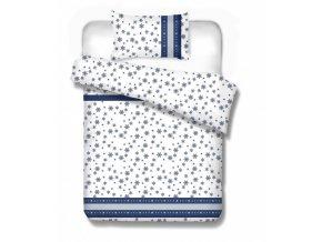 flanelové obliečky s modrými hviezdičkami Maribor blue