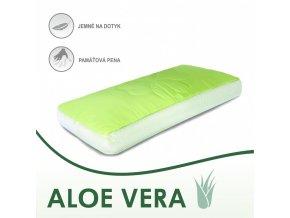 Aloe Vera anatomický vankúš v zelenej farbe