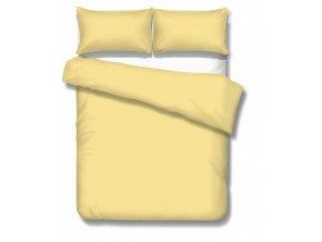 jednofarebné saténové obliečky Satén yellow