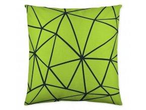 dekoračný vankúš zelený Triangle