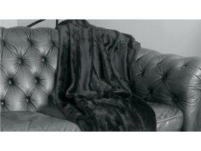 deka VELVET BLACK 220 x 240 cm Emozzione