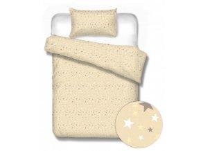flanelové obliečky Sterne beige