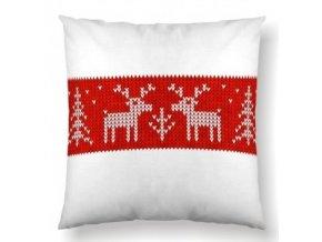 vianocny vankus nordic red