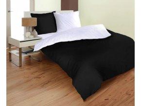 obliečky Micro uni black white