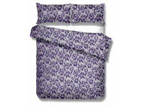 saténové obliečky Elegante purple dvojposteľ