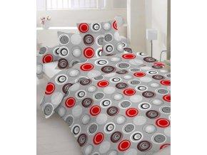 bavlnené obliečky Vilnus red dvojposteľ